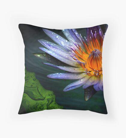 waterlily Throw Pillow