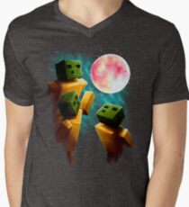 3 Sp00ns and a Moon Men's V-Neck T-Shirt