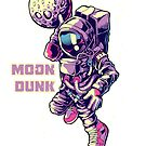 Astronaut spaceman Basketball Player Dunking Moon by hypnotzd