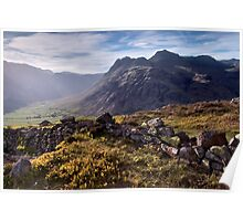 The Langdale Pikes from Side Pike Poster