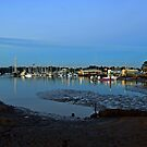 Sandgate Yacht Club at pre-dawn. Brisbane, Queensland, Australia. by Ralph de Zilva