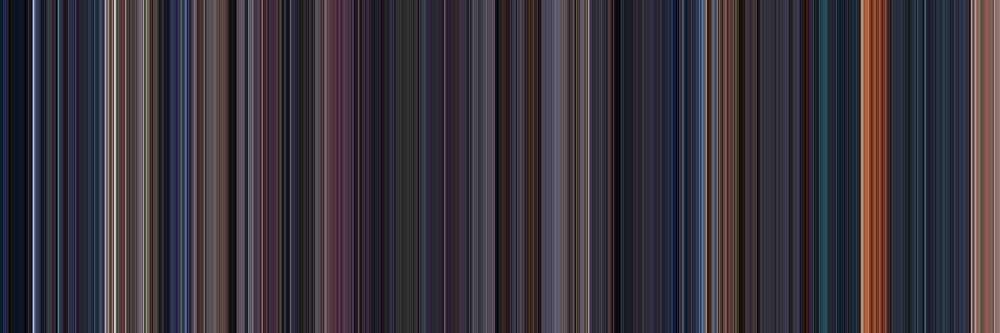 Moviebarcode: The Terminator (1984) [Simplified Colors] by moviebarcode
