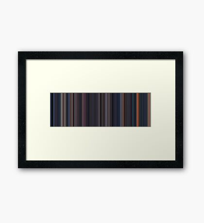 Moviebarcode: The Terminator (1984) [Simplified Colors] Framed Print
