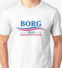 BORG 2020 - RESISTANCE IS FUTILE Slim Fit T-Shirt