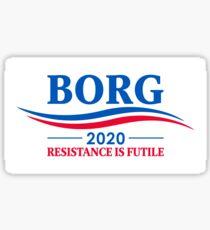 BORG 2020 - RESISTANCE IS FUTILE Sticker