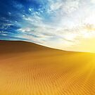Sandy desert at sunrise time. by MotHaiBaPhoto Dmitry & Olga