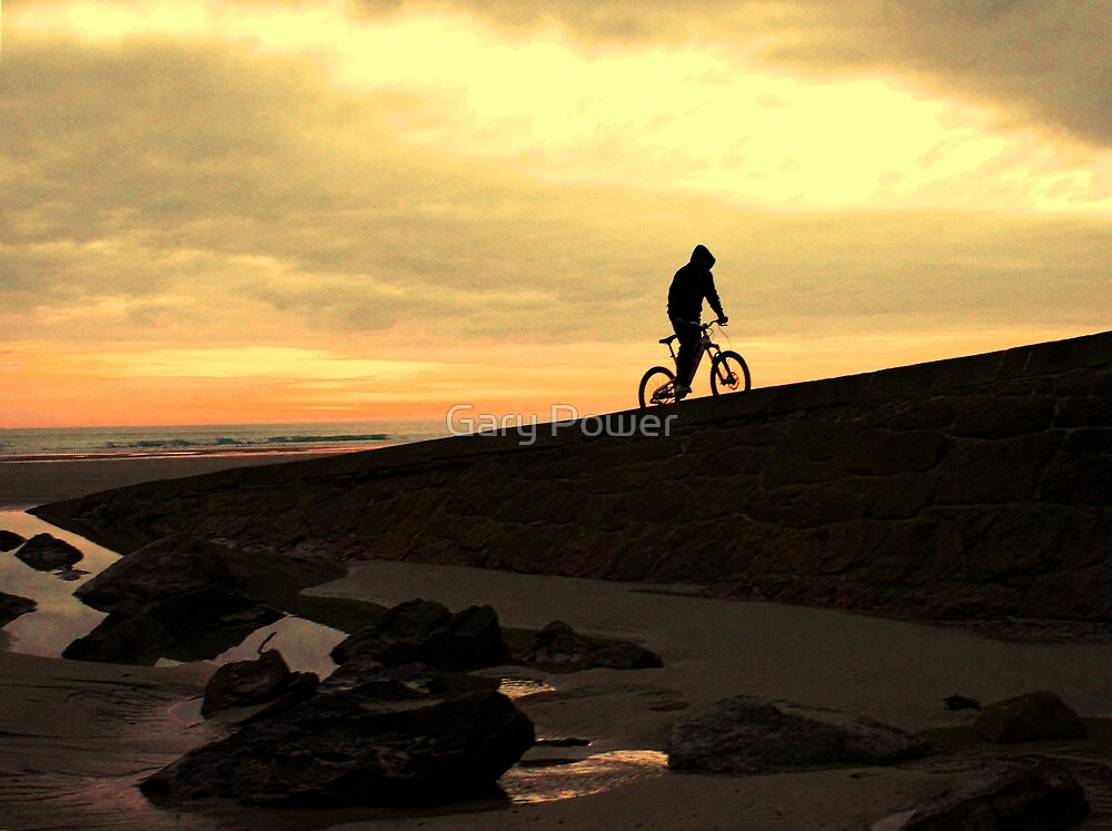 Rider on the shore by Gary Power