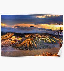 Bromo Tengger Semeru national park. Java. Indonesia Poster