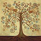 'Tree of Life' Acrylic Painting by Lisafrancesjudd