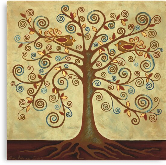 'Tree of Life' Acrylic Painting by Lisafrancesjudd