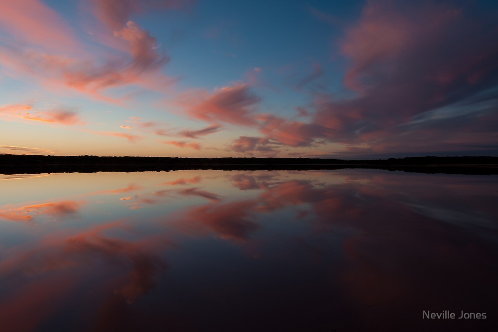 Halite Lake at sunrise, Coorong, South Australia by Neville Jones