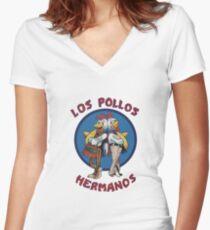 Breaking Hermanos Women's Fitted V-Neck T-Shirt