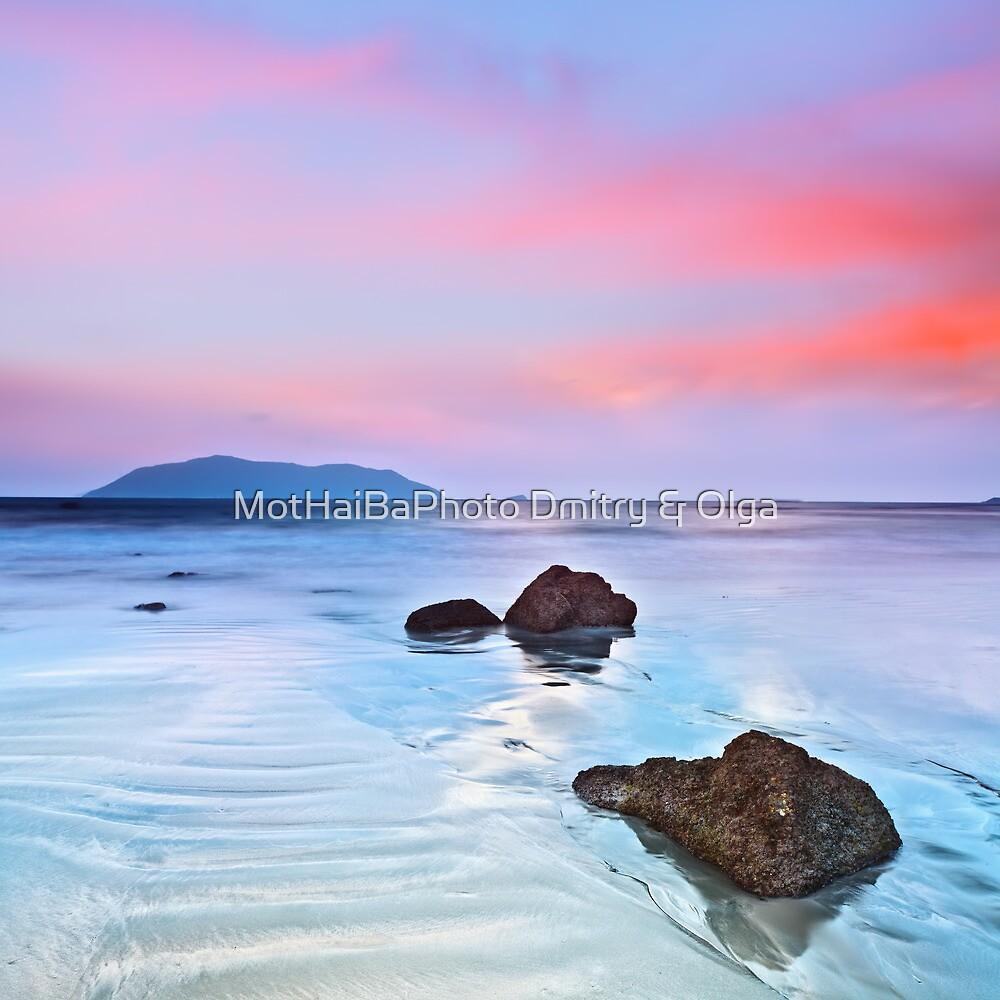 Sunrise over the sea. Stone on the foreground by MotHaiBaPhoto Dmitry & Olga