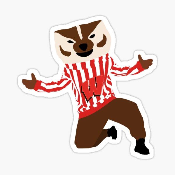 Bucky Badger - University of Wisconsin Sticker