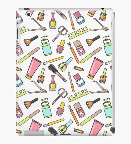 Pattern of manicure and pedicure doodle equipment. Nail art iPad Case/Skin