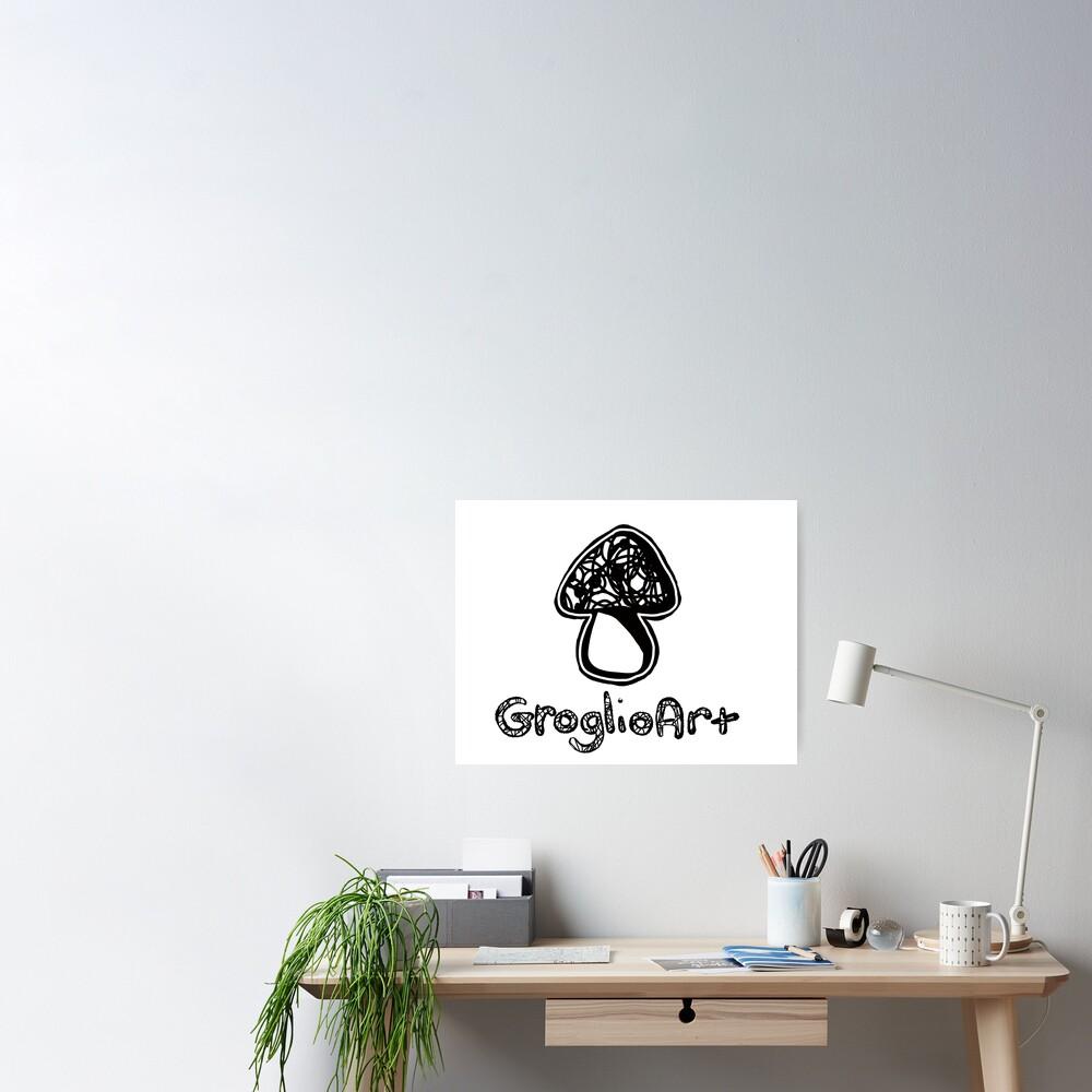 GroglioArt Mushroom Poster