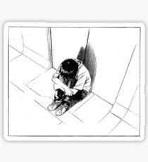 SAD SHINJI - NEON GENESIS EVANGELION - STICKER Sticker