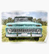 1963 Chevy Suburban Watercolor Poster