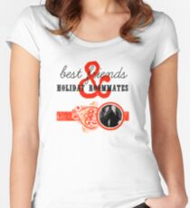 Best Friends and Holiday Roommates Women's Fitted Scoop T-Shirt