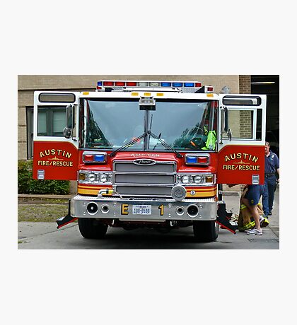 Fire / Rescue Engine #1 -Downtown - Austin Texas Series - 2011 Photographic Print