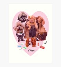 BREED OF DOGS Art Print