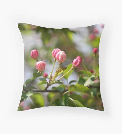 Budding Pink 2 Throw Pillow