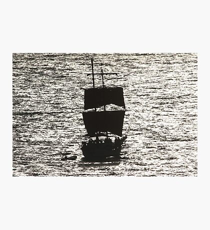 Sailship silhouette Photographic Print