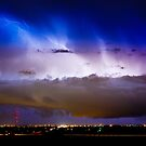 Lightning Thunder Head Cloud Burst Boulder County Colorado IM39 by Bo Insogna
