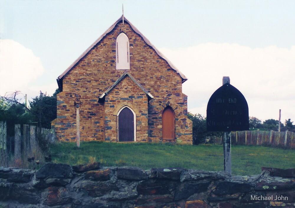 Historic Church, Hill End by Michael John