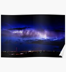Cloud to Cloud Lightning Boulder County Colorado Poster