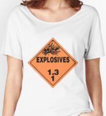 HAZMAT HAZARD EXPLOSIVES - STICKER Women's Relaxed Fit T-Shirt