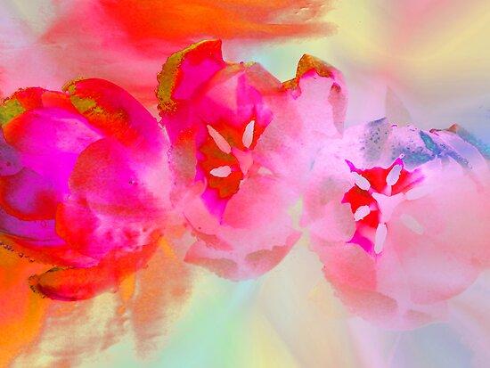 Painting Tulips. by Vitta