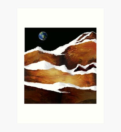 """Moon Over Planet X"" Art Print"