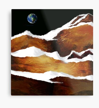 """Moon Over Planet X"" Metal Print"