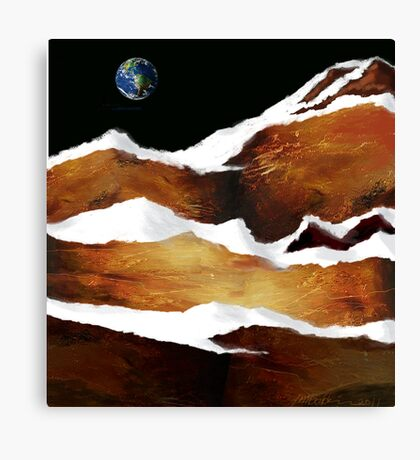 """Moon Over Planet X"" Canvas Print"
