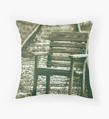 The wrong track Throw Pillow