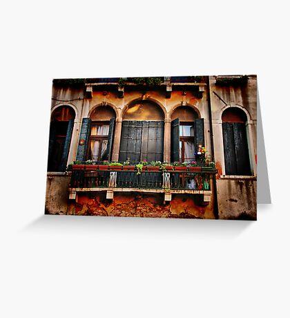 Venezian Windows Greeting Card