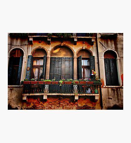Venezian Windows Photographic Print