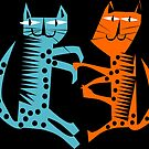 A Couple of Cool Cats, cool cat pattern by Kristina Evans