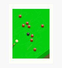 Snooker Match Art Print