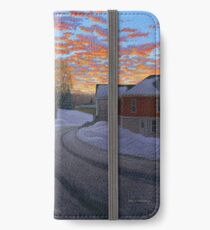 """""""Sunrise in the Center"""" by Reed Prescott iPhone Wallet/Case/Skin"""