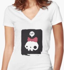 Boo! Women's Fitted V-Neck T-Shirt