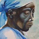 Woman in blue by Samantha Aplin