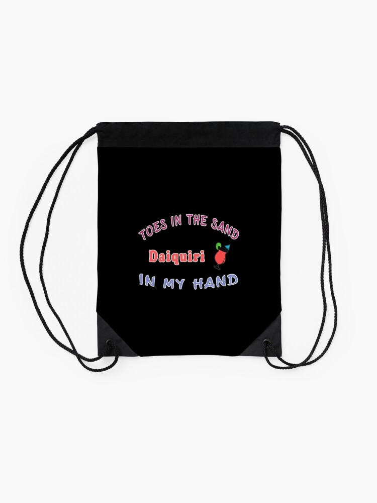 Alternate view of Alcohol Daiquiri Women's funny drinking gift. Drawstring Bag