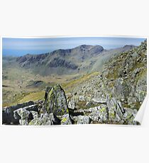 Scafell from Crinkle Crags Poster