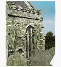 Gravestones and granite window Poster