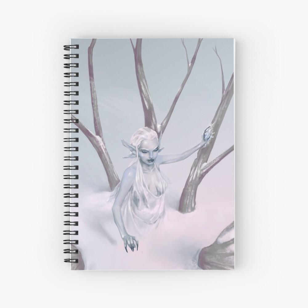 Snow Fairy | Digital Illustration Spiral Notebook