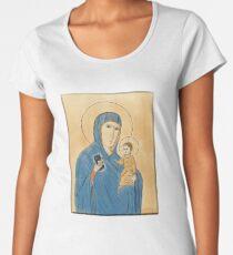 Madonna, child, and iPhone.  Premium Scoop T-Shirt