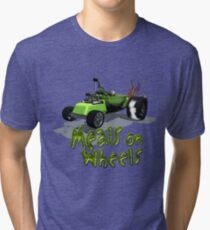 Wierd Wheels Meals on Wheels Tri-blend T-Shirt