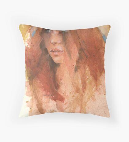 Barbara- first study Throw Pillow